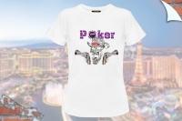 "T-Shirt ""Poker Skull und Colts"""
